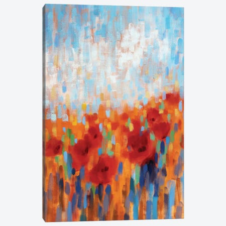 Poppy Walk Canvas Print #ICS712} by Claire Hardy Canvas Wall Art