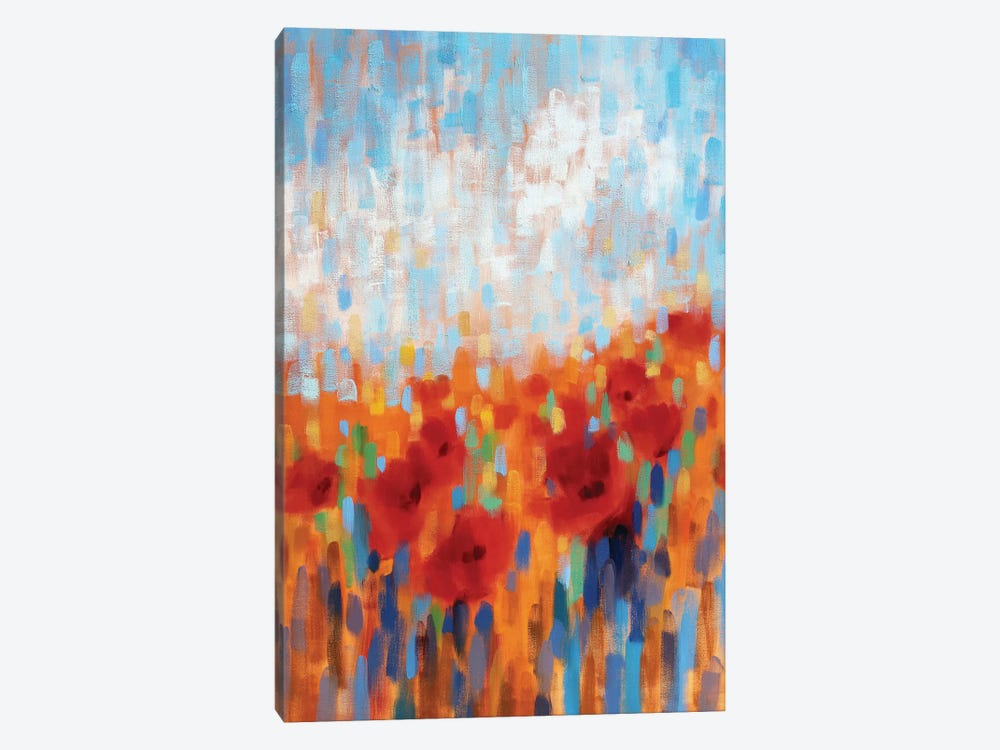 Poppy Walk by Claire Hardy 1-piece Canvas Wall Art