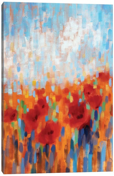 Poppy Walk Canvas Art Print