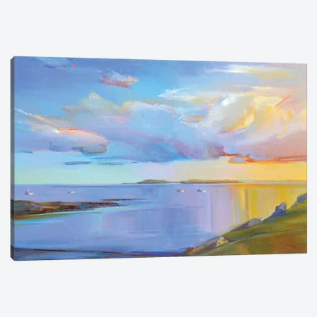 Summer Cove Canvas Print #ICS717} by Holly Ready Art Print