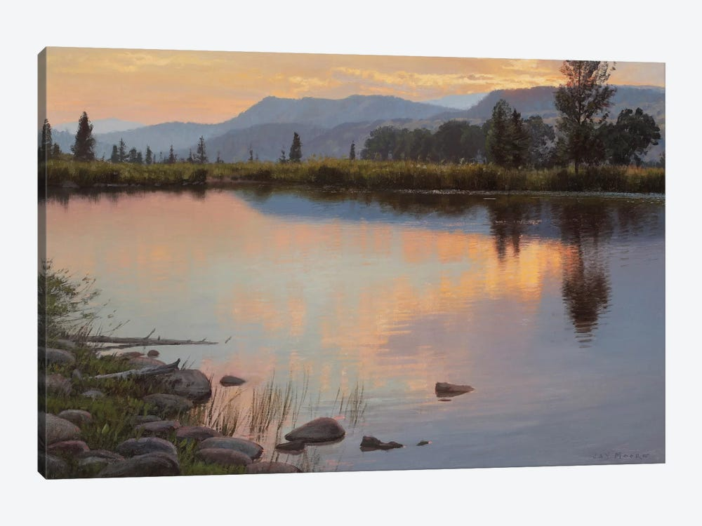 Tranquil Evening by Jay Moore 1-piece Canvas Art