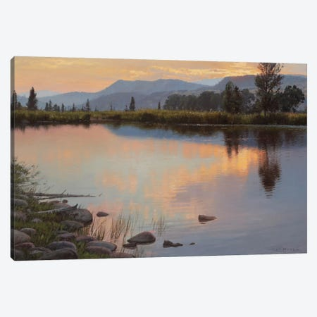Tranquil Evening Canvas Print #ICS723} by Jay Moore Canvas Art Print