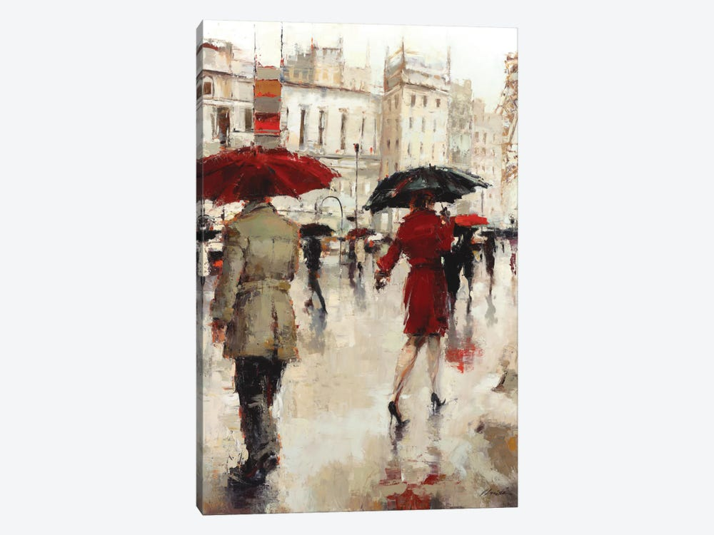 Parting On A Paris Street by Lorraine Christie 1-piece Canvas Art Print