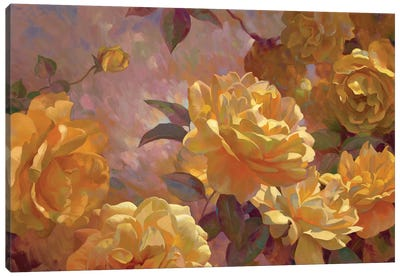 Golden Glow Canvas Art Print