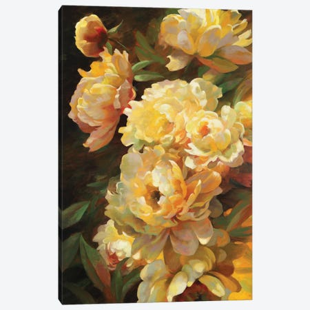 Peonies For Springtime Canvas Print #ICS751} by Emma Styles Canvas Art