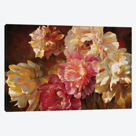 Peonies In Pastel Canvas Print #ICS752} by Emma Styles Canvas Art