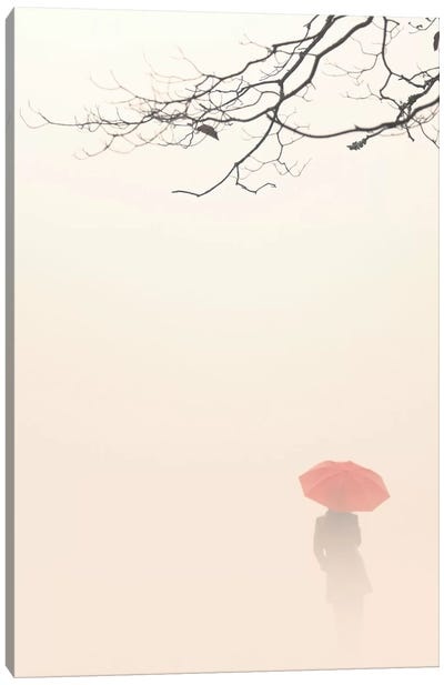 In Autumn Fog Canvas Art Print