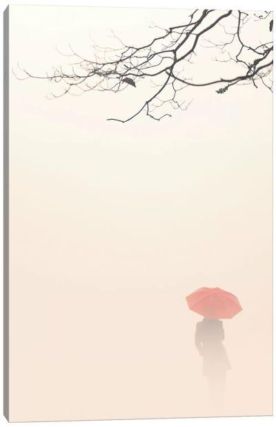 In Autumn Fog Canvas Art Print