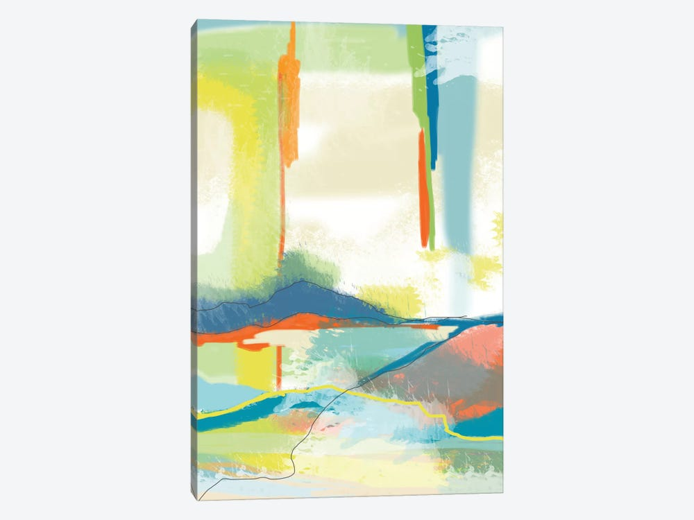 Deconstructed Landscape IV by Jan Weiss 1-piece Canvas Artwork