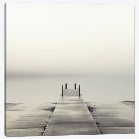 Pier and Seagull Canvas Print #ICS76} by Nicholas Bell Photography Canvas Art Print