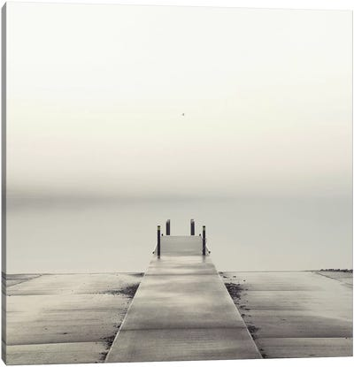 Pier and Seagull Canvas Art Print
