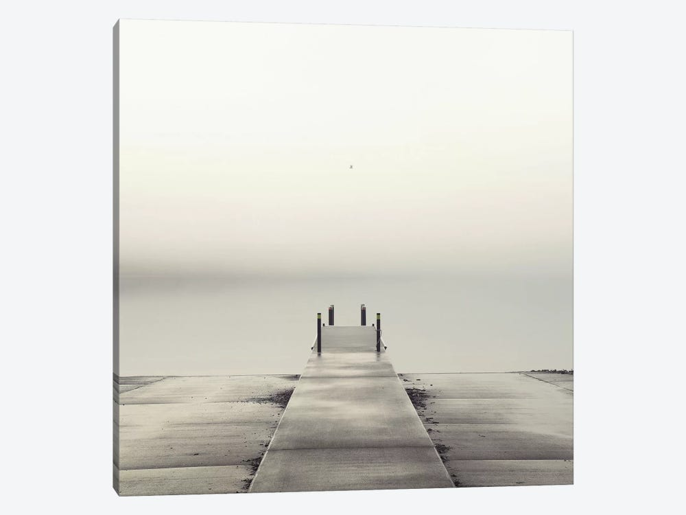 Pier and Seagull by Nicholas Bell Photography 1-piece Canvas Print