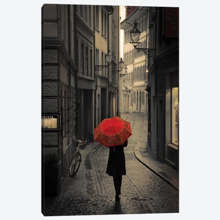 Red Rain Canvas Print #ICS773} by Stefano Corso Canvas Wall Art