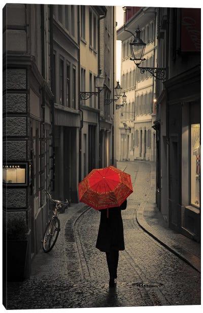 Red Rain Canvas Art Print