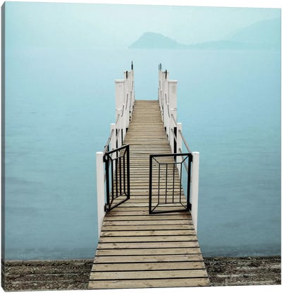 Morning Harbor Launch Canvas Print #ICS78