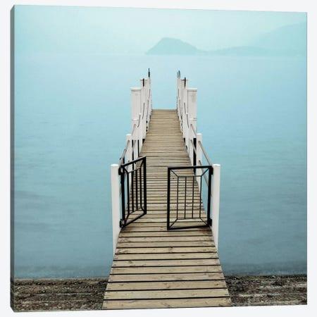 Morning Harbor Launch Canvas Print #ICS78} by Alan Blaustein Canvas Art