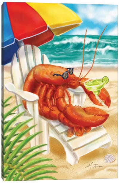 Beach Friends - Lobster Canvas Art Print