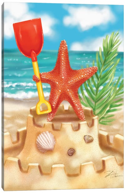 Beach Friends - Starfish Canvas Art Print