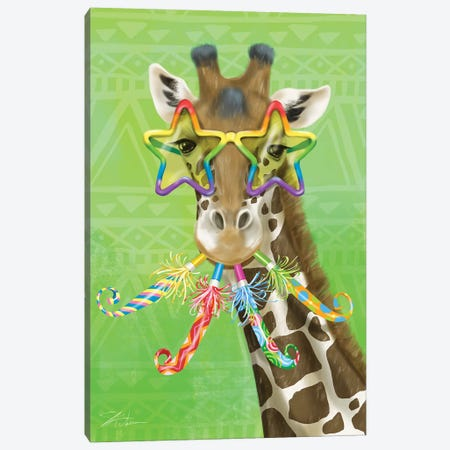 Party Safari Giraffe Canvas Print #ICS802} by Shari Warren Canvas Art