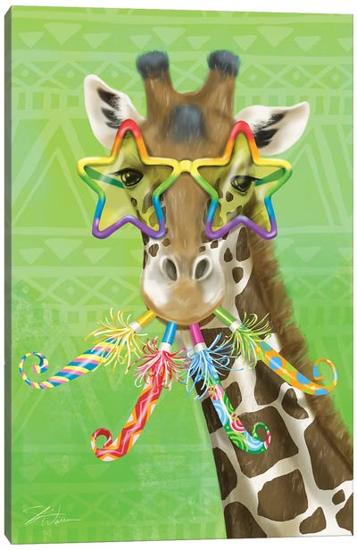 Party Safari Giraffe Canvas Art Print