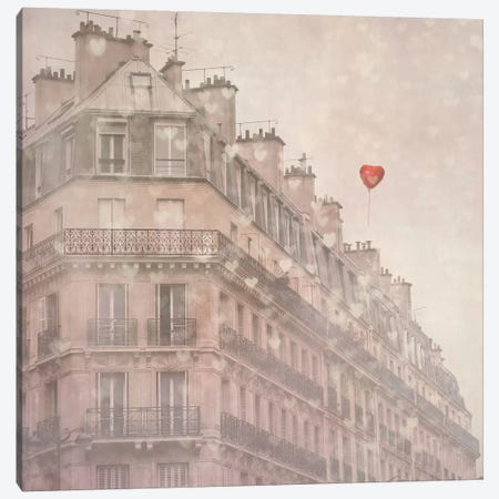 Heart Paris Canvas Print #ICS80} by Keri Bevan Canvas Print