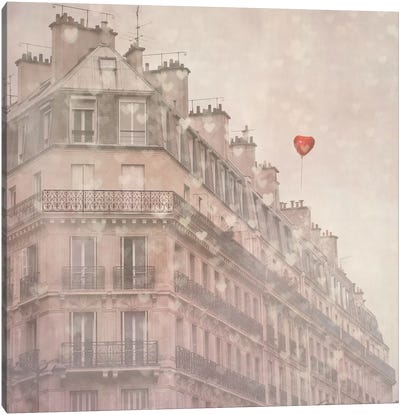 Heart Paris Canvas Art Print