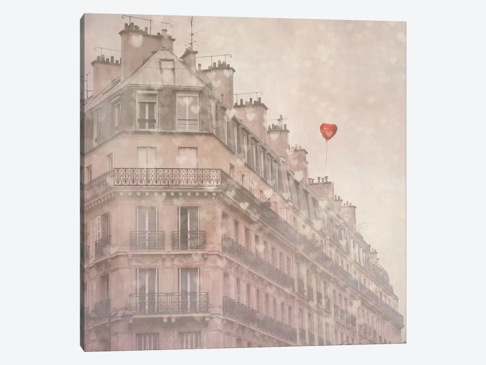 Heart Paris by Keri Bevan 1-piece Canvas Art