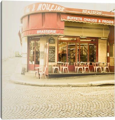 Paris Brasserie Canvas Art Print