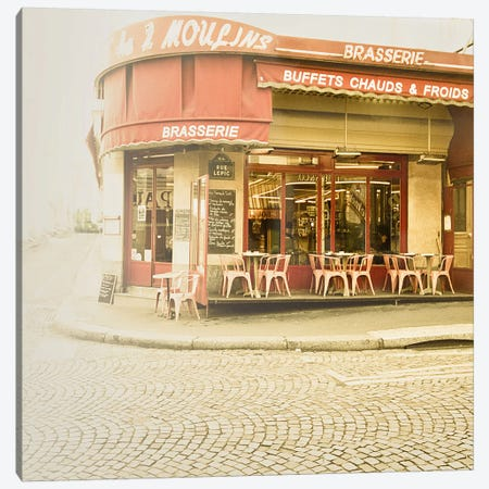 Paris Brasserie Canvas Print #ICS81} by Keri Bevan Canvas Print