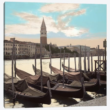 Campanile Vista with Gondolas Canvas Print #ICS98} by Alan Blaustein Canvas Artwork