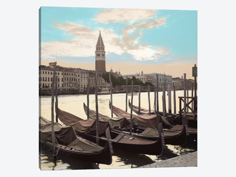 Campanile Vista with Gondolas by Alan Blaustein 1-piece Canvas Art Print