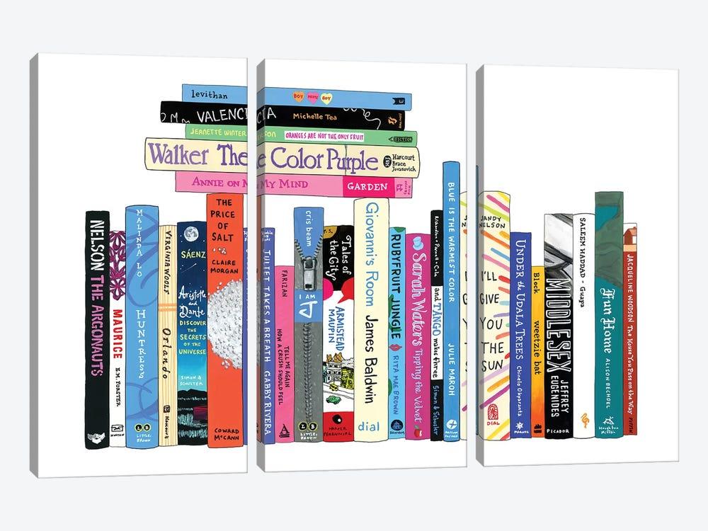 LGBTQ by Ideal Bookshelf 3-piece Canvas Art Print
