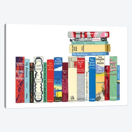 Novels From 1899-1941 Canvas Print #IDB18} by Ideal Bookshelf Canvas Wall Art