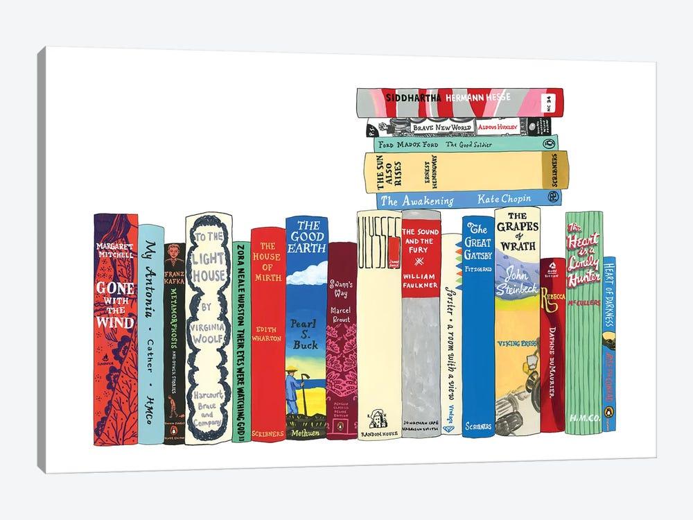 Novels From 1899-1941 by Ideal Bookshelf 1-piece Art Print