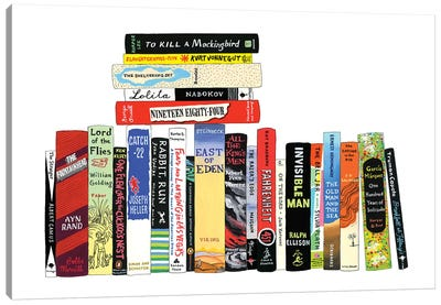 Novels From 1942-1972 Canvas Art Print