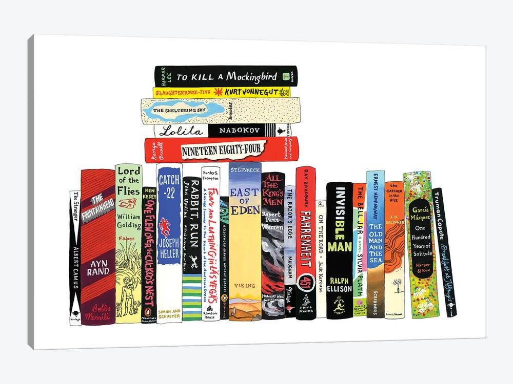 Novels From 1942-1972 by Ideal Bookshelf 1-piece Canvas Artwork