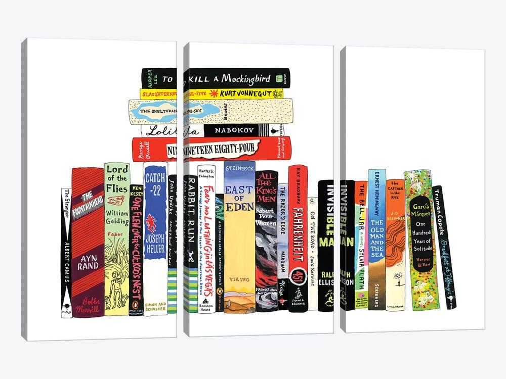 Novels From 1942-1972 by Ideal Bookshelf 3-piece Canvas Art