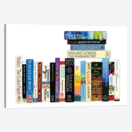 Novels From 1973-1997 3-Piece Canvas #IDB20} by Ideal Bookshelf Canvas Print