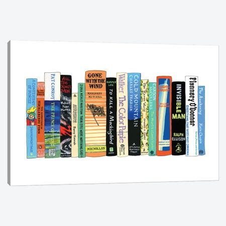 Southern Lit Canvas Print #IDB26} by Ideal Bookshelf Canvas Art