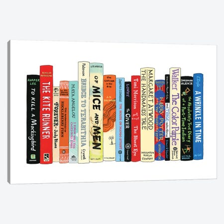 Banned Books Canvas Print #IDB2} by Ideal Bookshelf Canvas Art Print