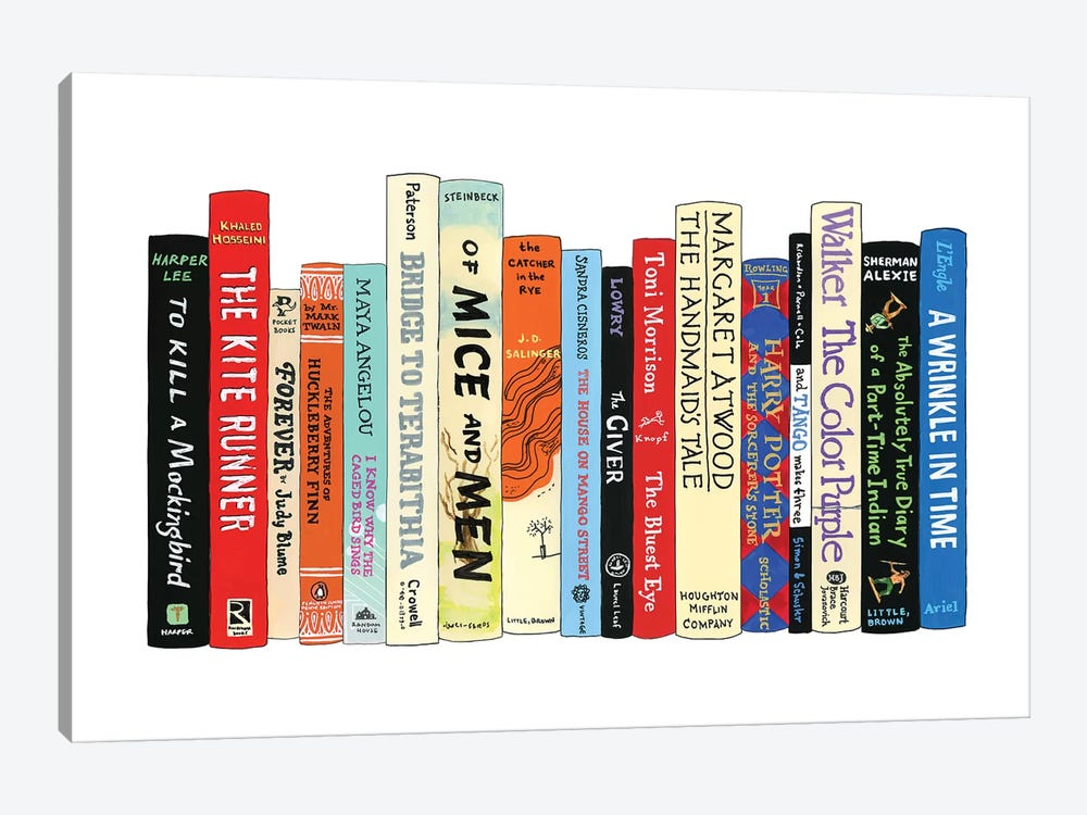 Banned Books by Ideal Bookshelf 1-piece Canvas Print