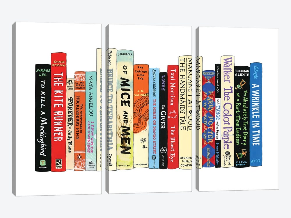 Banned Books by Ideal Bookshelf 3-piece Canvas Art Print