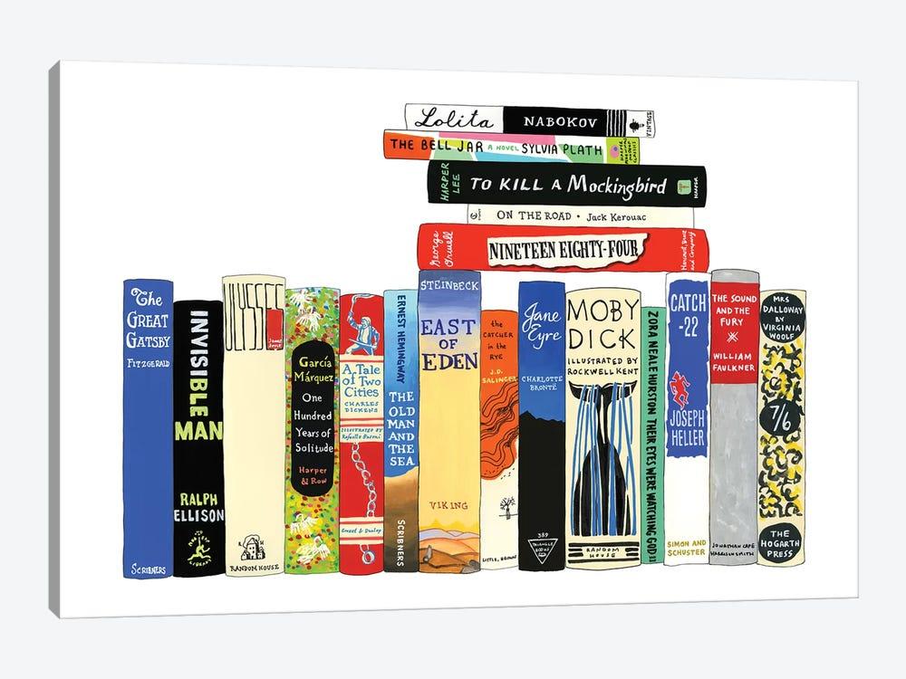 Classic Novels by Ideal Bookshelf 1-piece Canvas Art Print