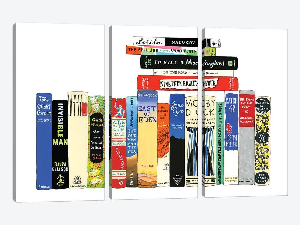 Classic Novels by Ideal Bookshelf 3-piece Canvas Art Print