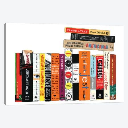 Contemporary Fiction Canvas Print #IDB5} by Ideal Bookshelf Canvas Wall Art