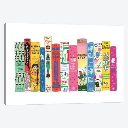 Girl Stars Canvas Print #IDB9} by Ideal Bookshelf Canvas Art Print