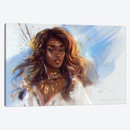 Golden Canvas Print #IDC11} by indicreates Art Print