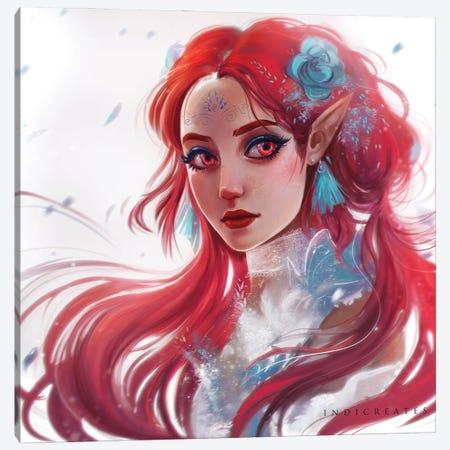 Red II Canvas Print #IDC20} by indicreates Canvas Artwork