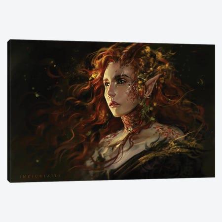 Glow Canvas Print #IDC25} by indicreates Canvas Art Print