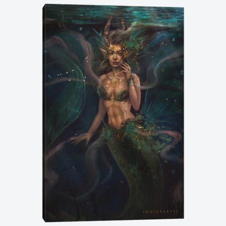 Capricorn Canvas Print #IDC4} by indicreates Canvas Print